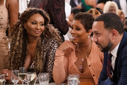 Cynthia Bailey, Eva Marcille, and Michael Sterling in 'The Real Housewives of Atlanta' Season 12