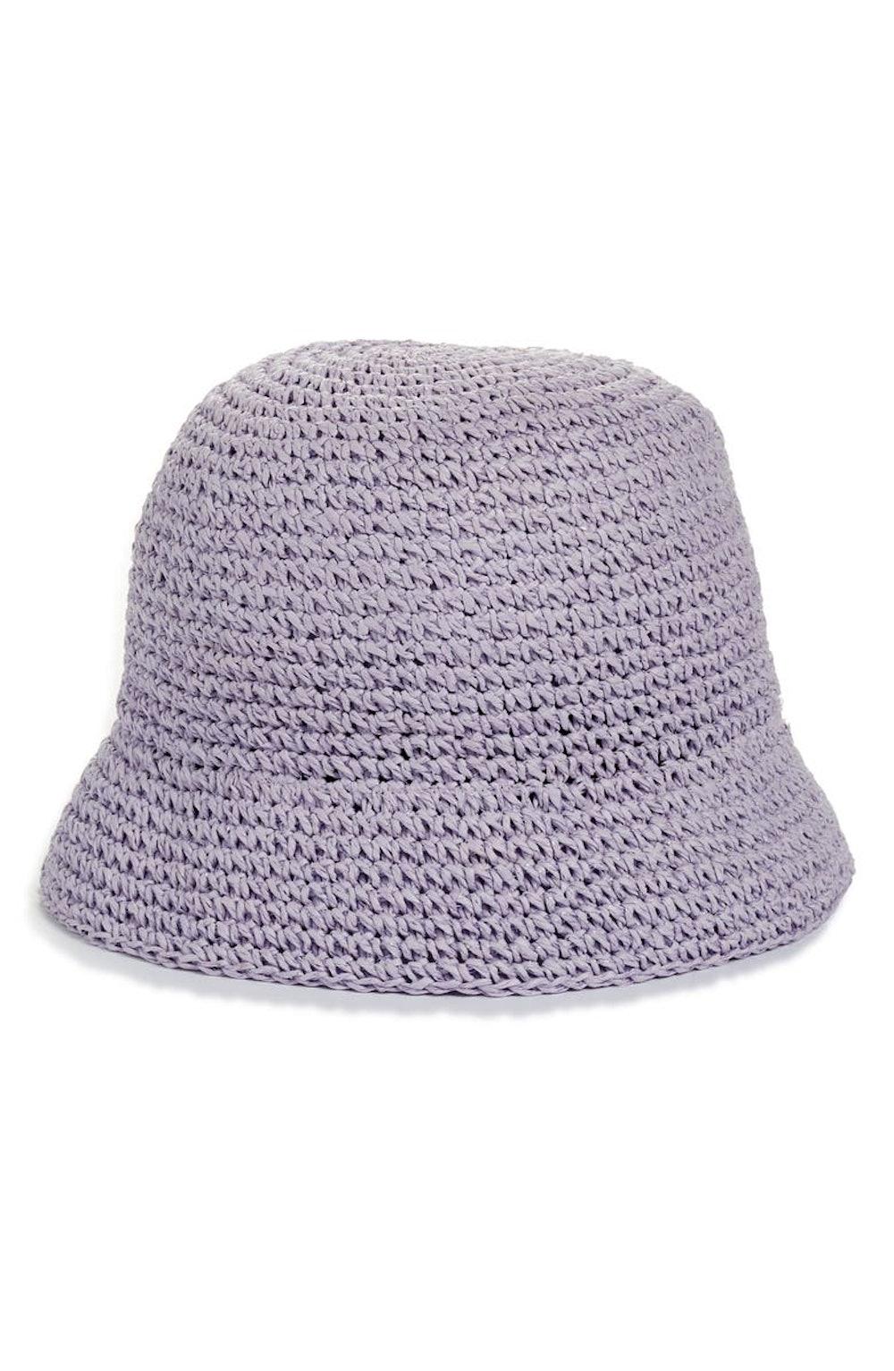 Metallic Crochet Bucket Hat