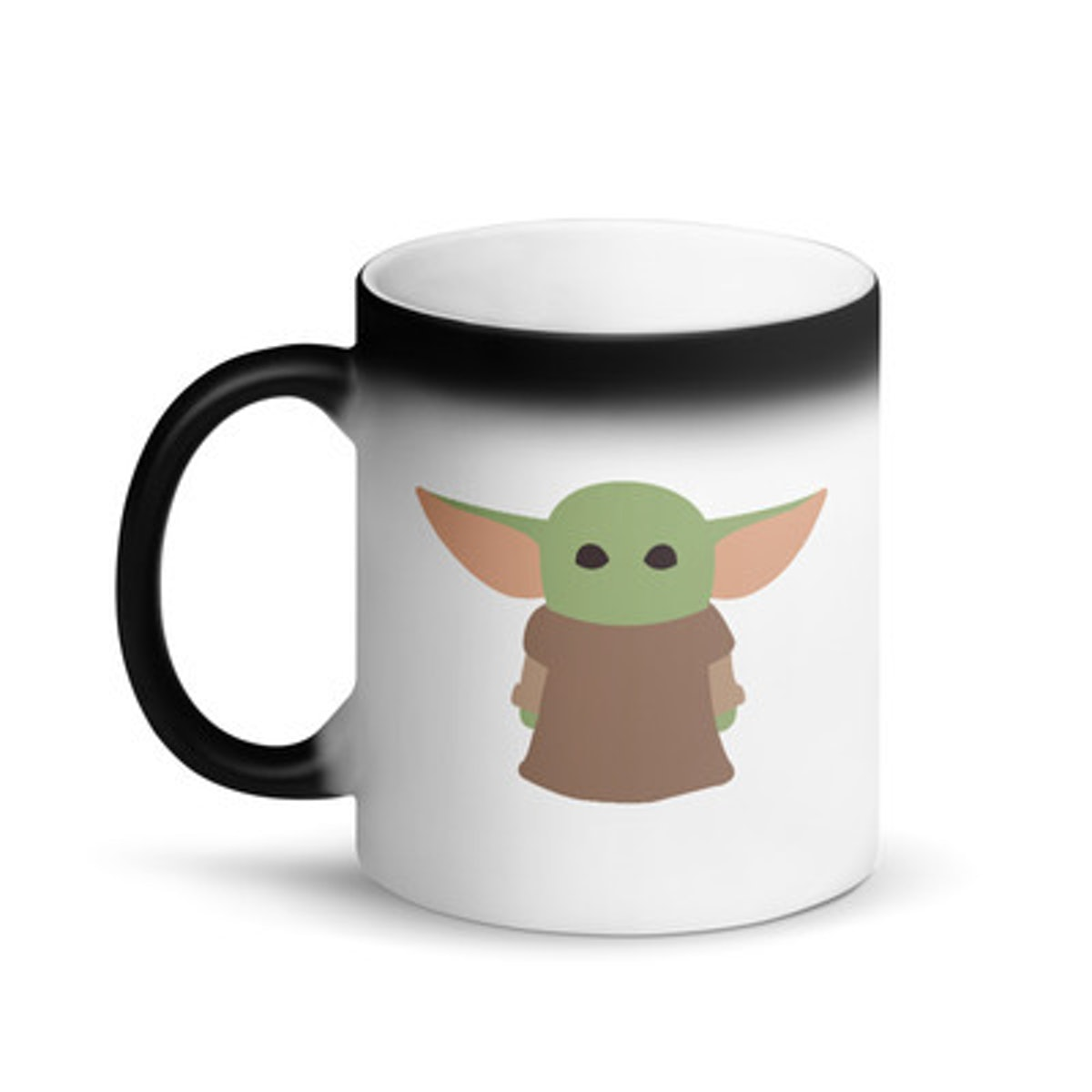 Baby Yoda starwars Matte Black Magic coffee Mug