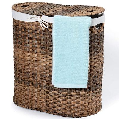 Seville Classics Handwoven Laundry Hamper
