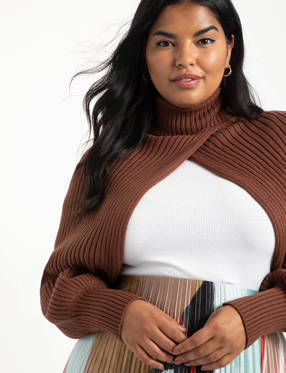 Turtleneck Sweater Sleeve Scarf