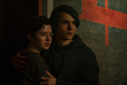 Theo and Robin on The Chilling Adventures of Sabrina via the Netflix press site