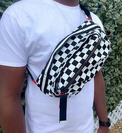 Mon Cheri by Cherish Checker Chest Bag