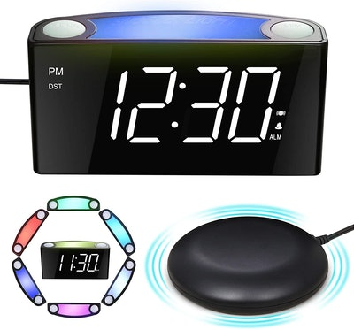 Mesqool Extra Loud Alarm Clock with Bed Shaker