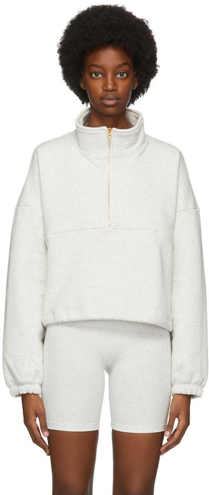 Grey Diana Half-Zip Sweatshirt
