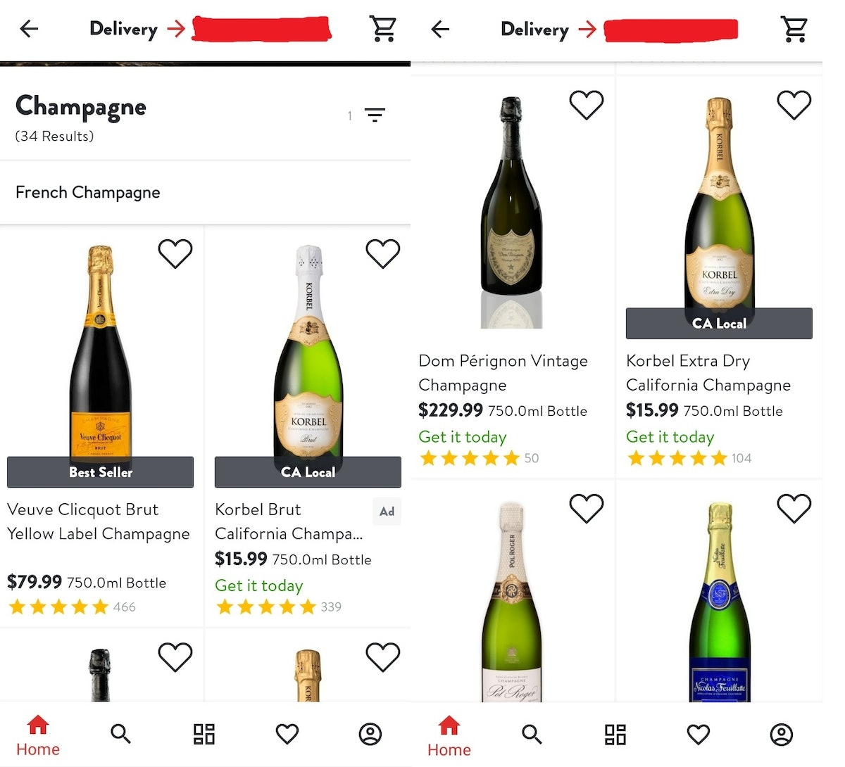Here's how to get champagne delivered on New Year's Eve for an easy shopping trip.