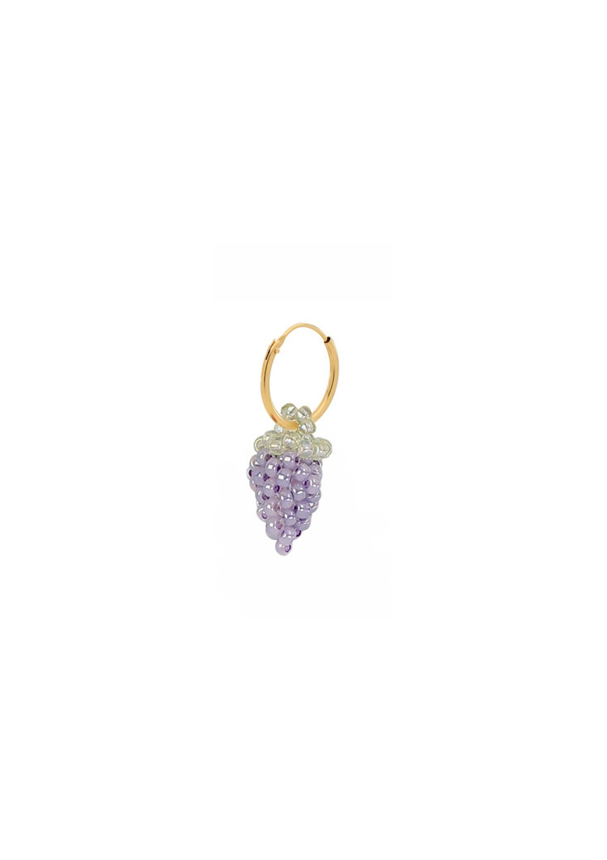 Mini Pale Grape Earring With Hoop
