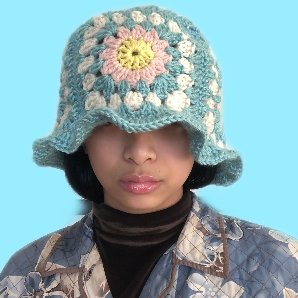 Handmade Patchwork Flower Crochet