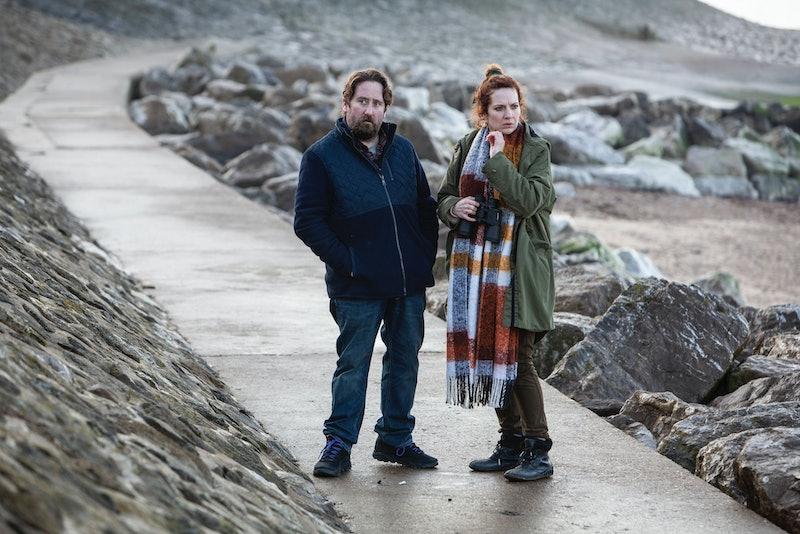 jim howick and katherine parkinson in bbc's pandemonium