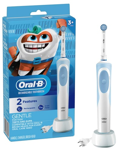 Oral-B Kids Electric Toothbrush With Sensitive Brush Head and Timer