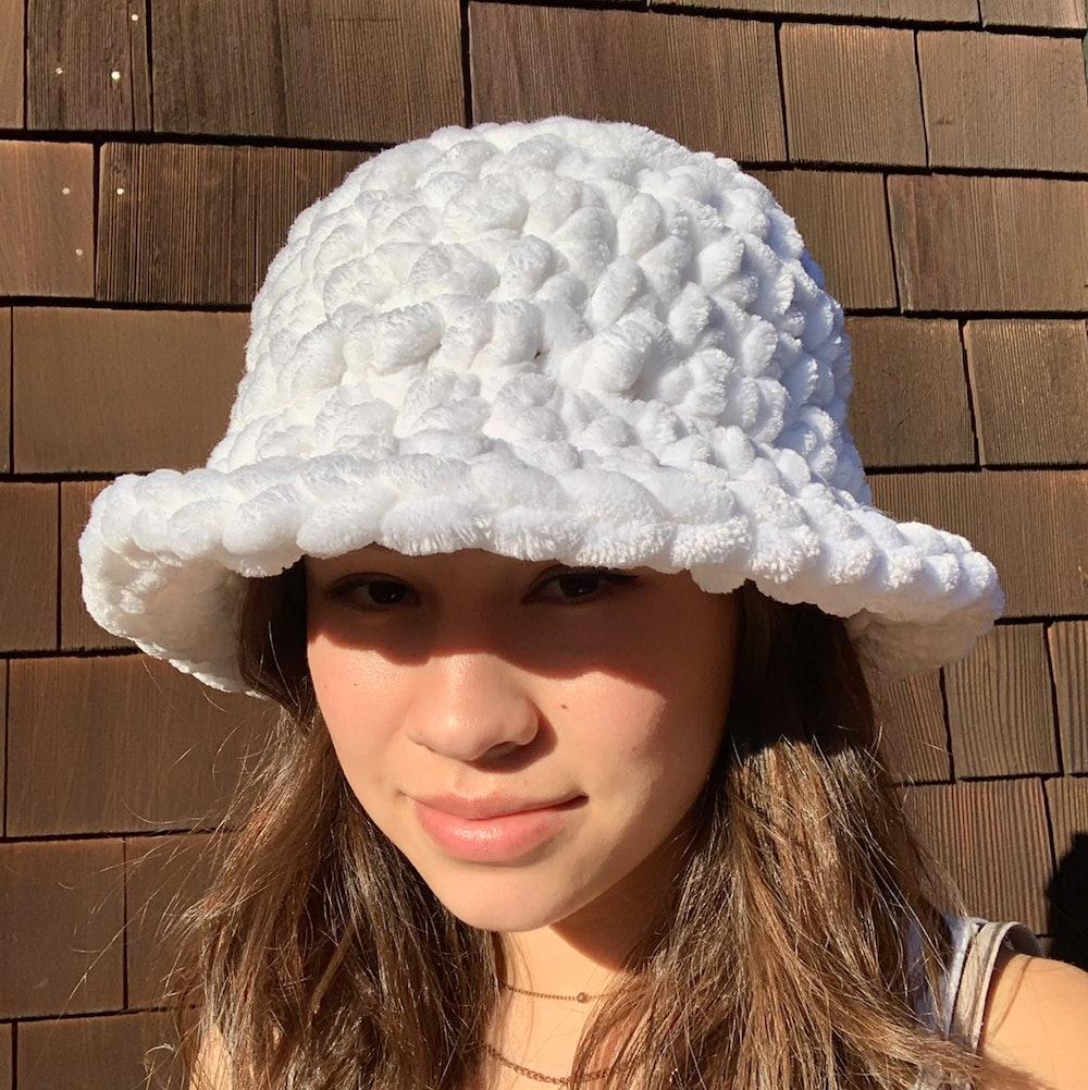 handmade chunky crochet bucket hat