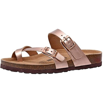 CUSHIONAIRE Luna Cork Footbed Sandal With +Comfort