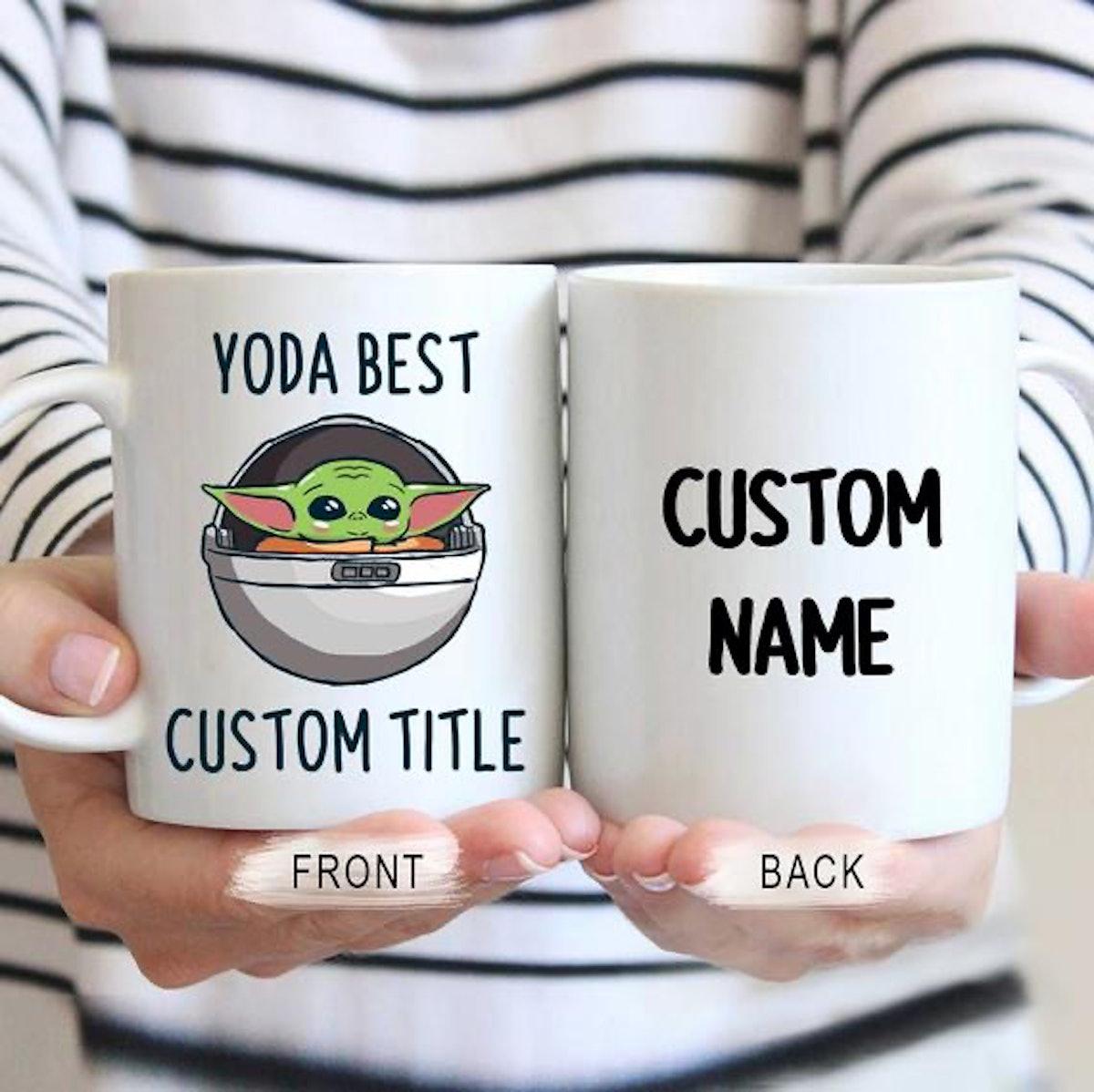Custom Yoda Best Mug, Personalized Baby Yoda