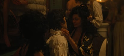 Benedict Bridgerton and Genevieve Delacroix from the Netflix adaptation of The Duke and I.