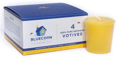 Bluecorn Beeswax Votive (4-Pack)