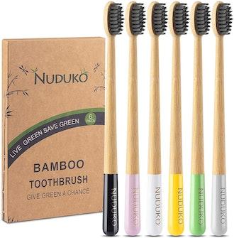 Nudko Bamboo Toothbrush (6-Pack)