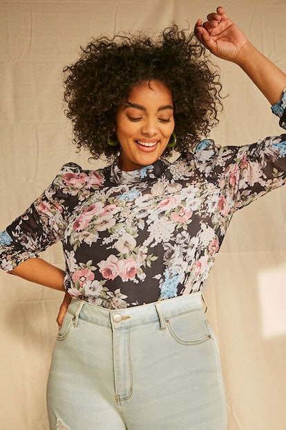 Forever 21 Plus Size Floral Chiffon Top