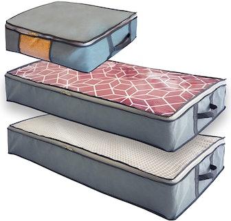 Mill & Mint Under Bed Storage Bins (3-Pack)