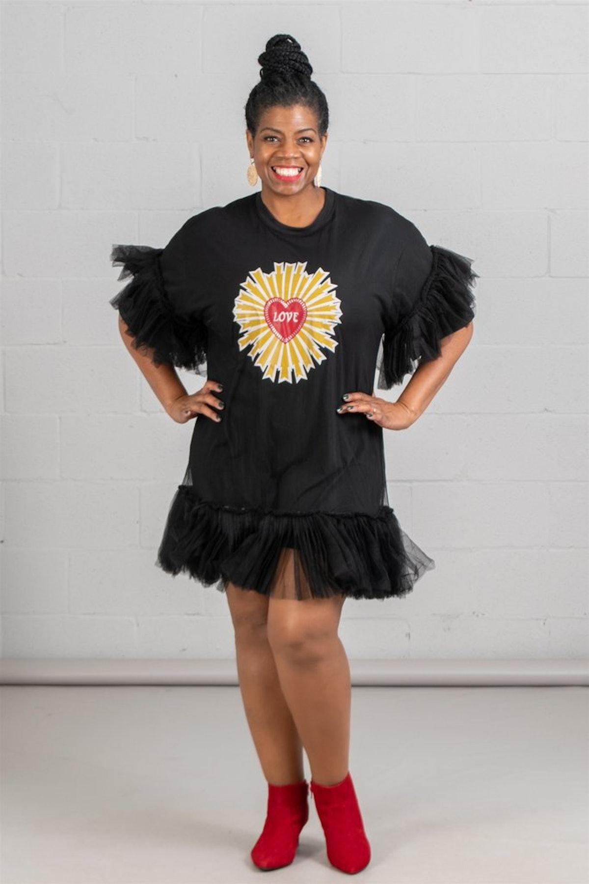 Diva's Den Fashion Tulle Patch Dress