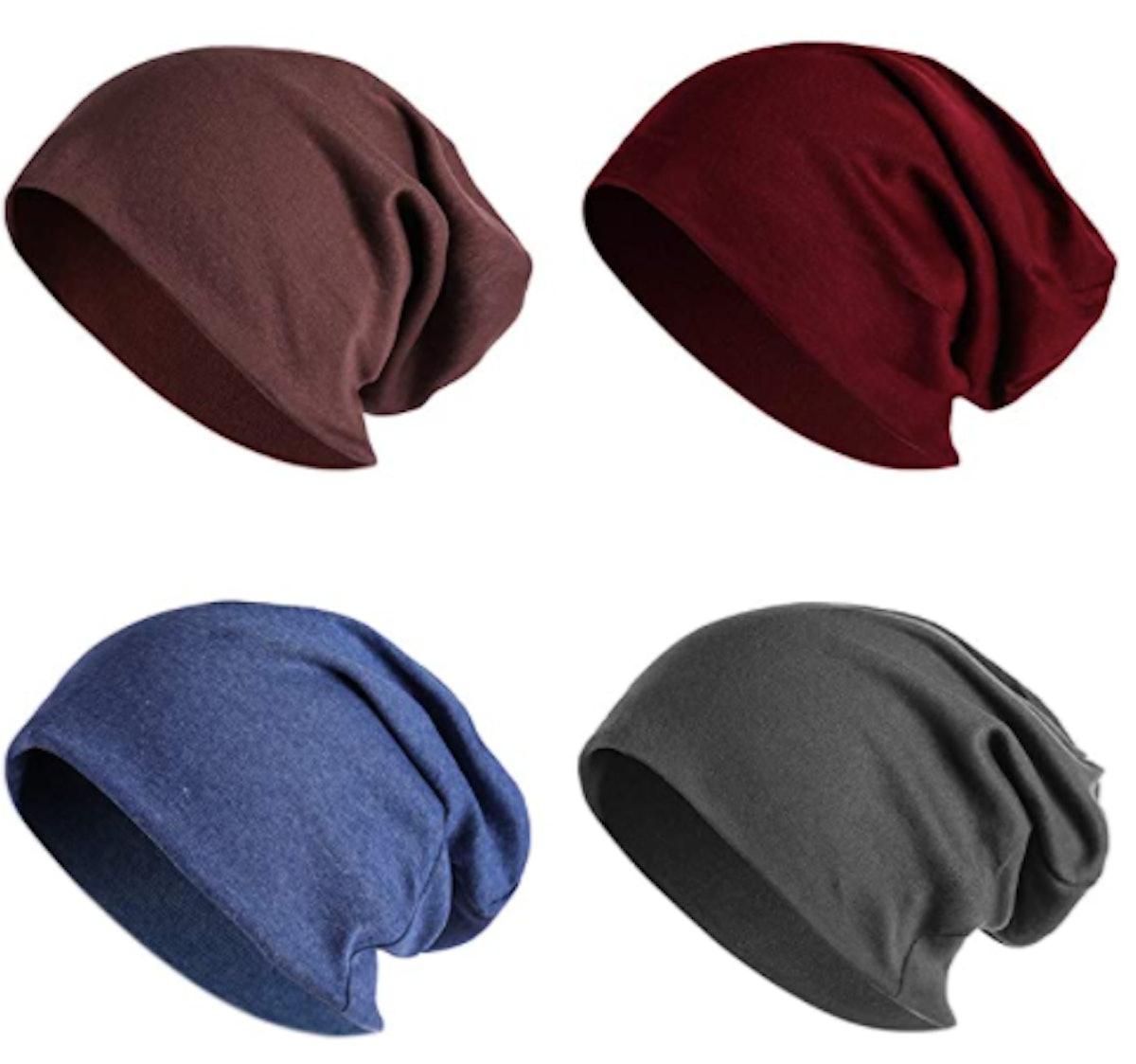 Joyebuy Slouchy Knit Beanies (4-Pack)
