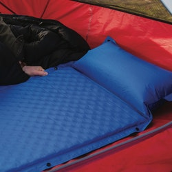 Camping mattress in a tent