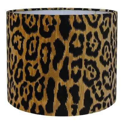 Velvet Animal Print Lamp Shade