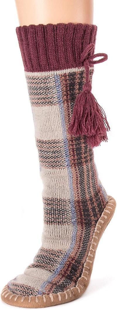 MUK LUKS Slipper Socks with Tassels