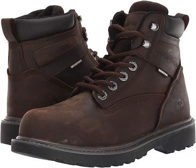 """WOLVERINE Floorhand Waterproof 6"""" Steel Toe Work Boot"""