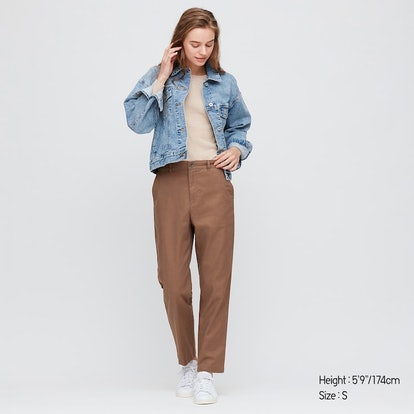 Uniqlo Women Linen Cotton Tapered Pants