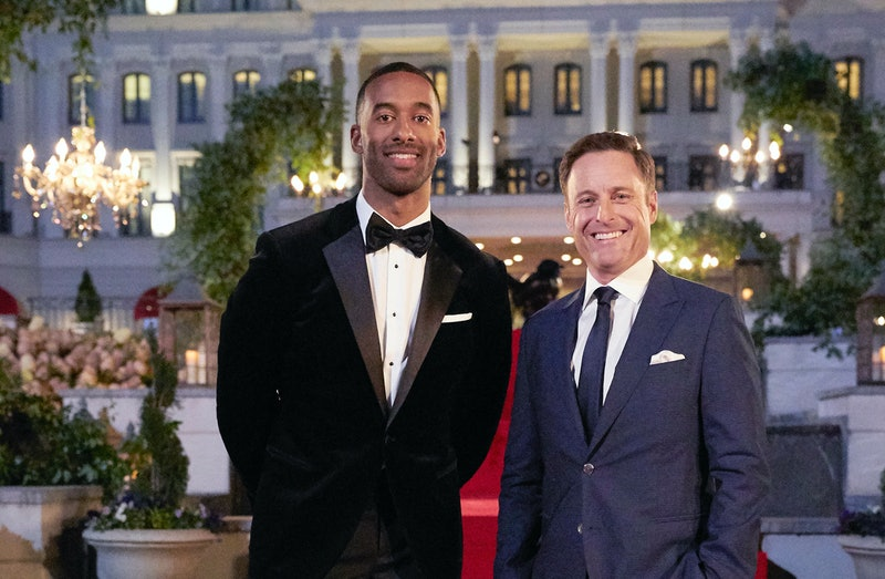 Matt James and Chris Harrison on The Bachelor via the ABC press site