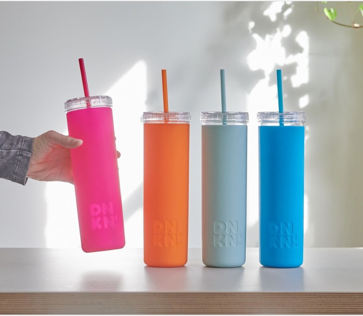 Dunkin' launched some new DNKN' silicone sippers.