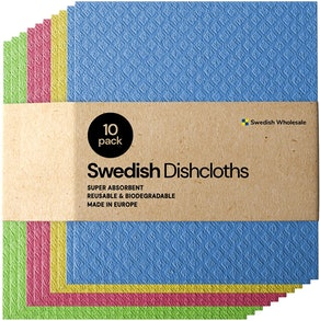 Swedish Wholesale Cellulose  Dishcloths (10-Pack)