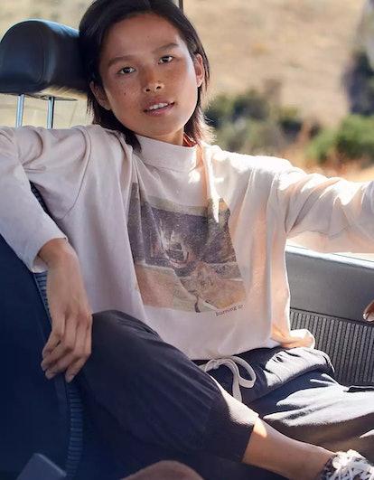 Aerie Long Sleeve Mockneck Cropped T-Shirt