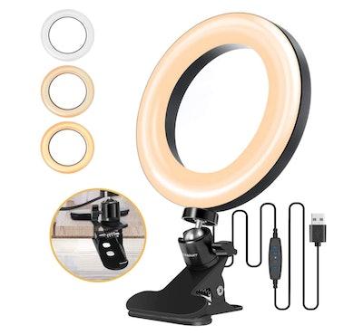 "ELEGIANT 6.3"" Selfie Ring Light with Clamp Mount"