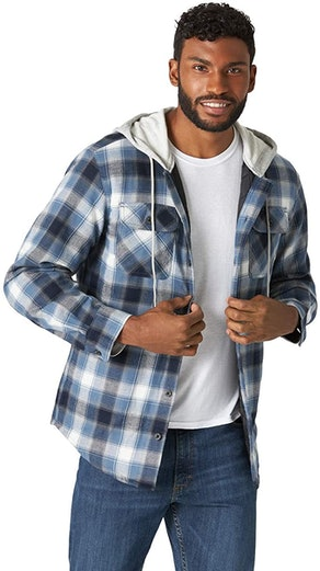 Wrangler Authentics Quilted Flannel Shirt Jacket