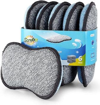 Scrub-It Microfiber Scrub Sponges (6-Pack)