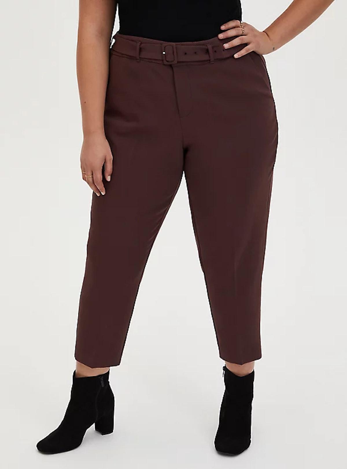 Torrid Rust Brown Belted Trouser