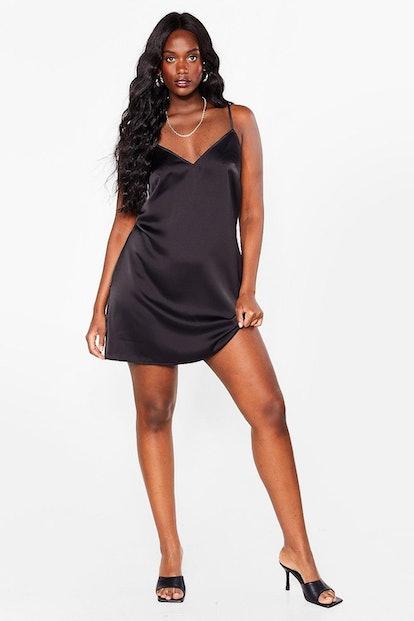 Nasty Gal Let It Slip Plus Satin Mini Dress