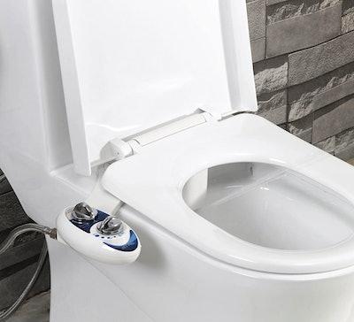 Fresh Water Non-Electric Mechanical Bidet Toilet Attachment