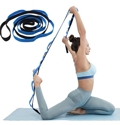 KerKoor Yoga Stretch Strap, Multi Loops Adjustable Exercise Band