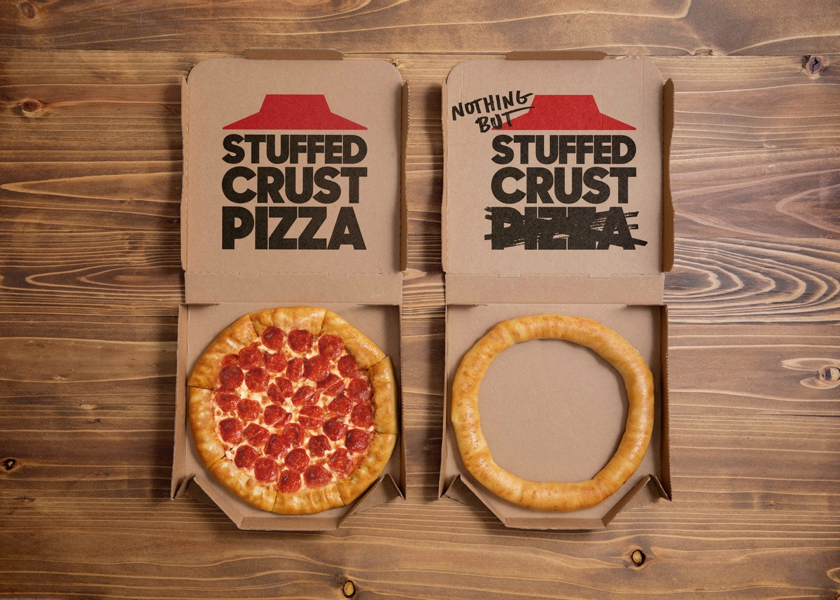 Pizza Hut's Nothing But Stuffed Crust is a twist on a popular offering.