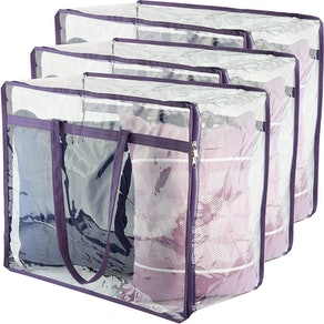 Wappa Home Clear Zippered Storage Bags (3-Pack)