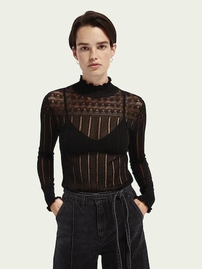 Sheer Long Sleeve Layering Knit