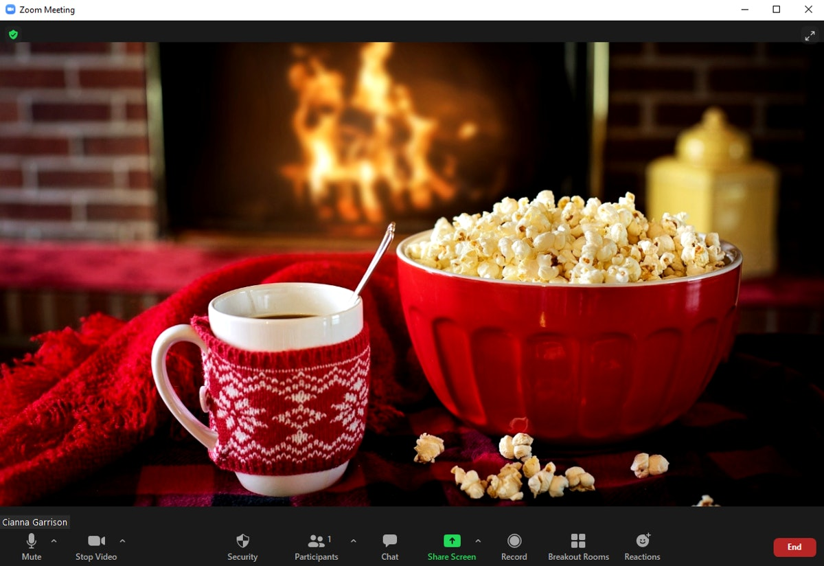 These fireplace Zoom backgrounds will have you ready for a winter chat.