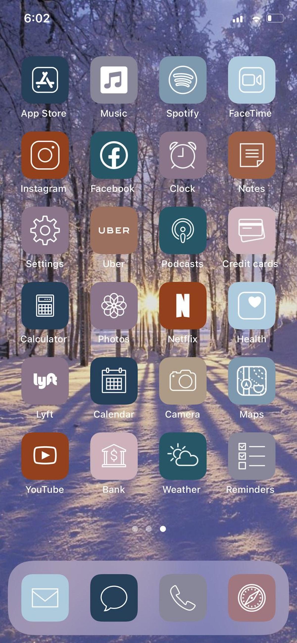 Cozy Winter iOS 14 Home Screen Design Pack