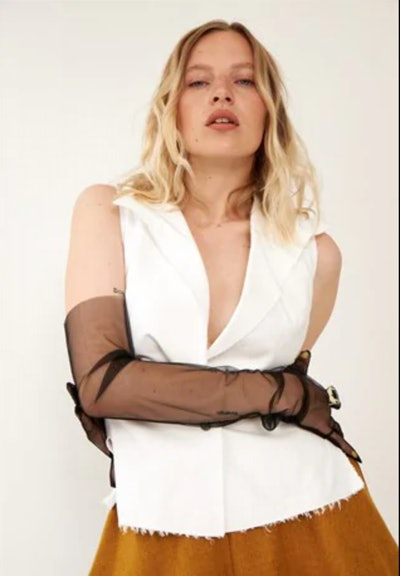 Vintage RARE Chanel white linen top