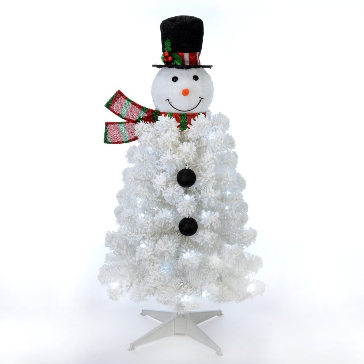 Holiday Time Pre-Lit Snowman Artificial Christmas Tree,