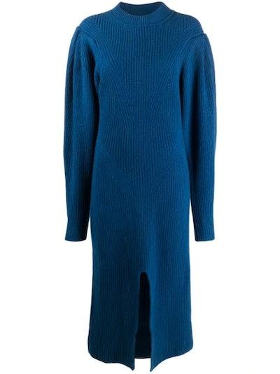 Perrine structured shoulder dress