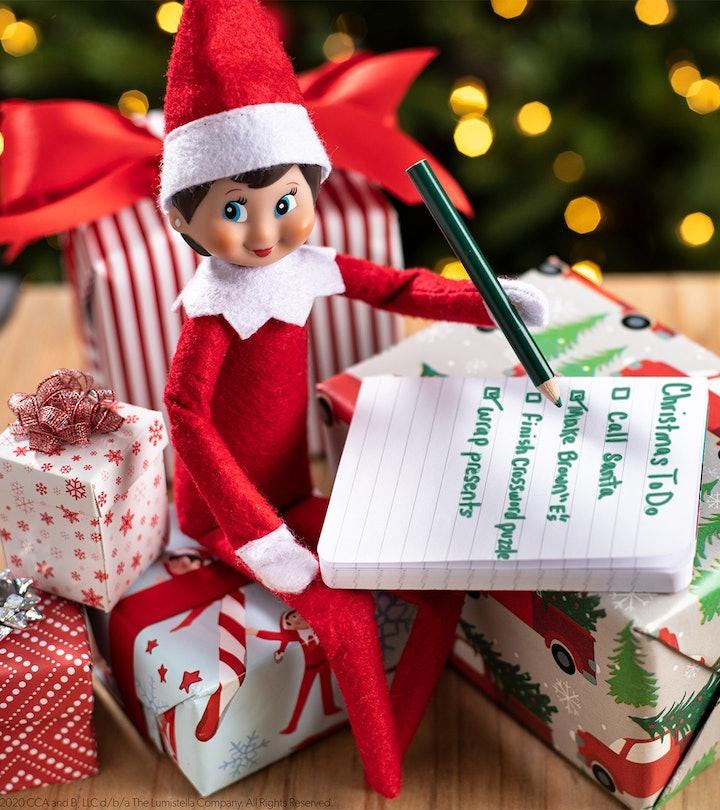 Elf on the Shelf making a list.