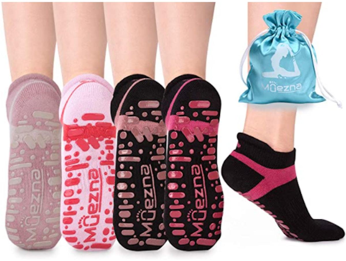 Muezna Non-Slip Socks (4 Pairs)